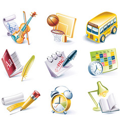 cartoon icons vector image vector image