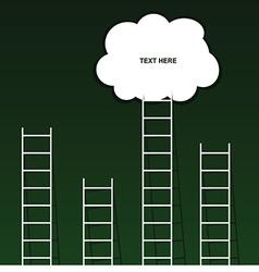 Cloud on ladder set on green background vector