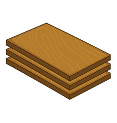 Construction wood icon cartoon style vector
