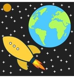 Cosmos explore space rocket vector