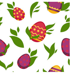 easter paschal eggs seamless pattern vector image
