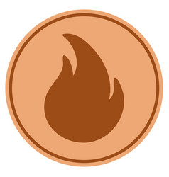 Fire bronze coin vector