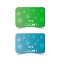 Gift voucher discount coupon flat vector