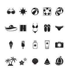 icon summer mono color vector image
