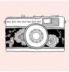 illustrative camera vector image