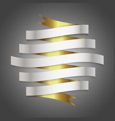 Luxury ribbon background vector