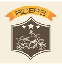 Motorcycle shield vector