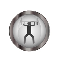 Pictogram practice weight lifting design vector