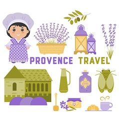 Provence set of elements vector
