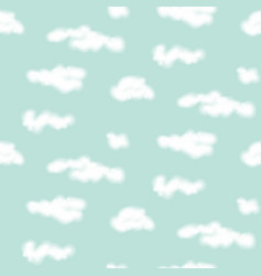 realistic clouds seamless pattern vector image vector image