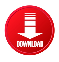Red download button vector image
