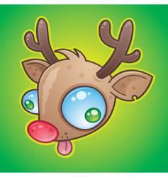 red nose reindeer vector image vector image