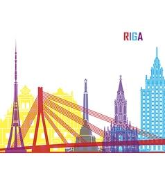 Riga skyline pop vector
