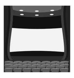 Scene cinema icon gray monochrome style vector