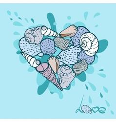 Seashells set vector image