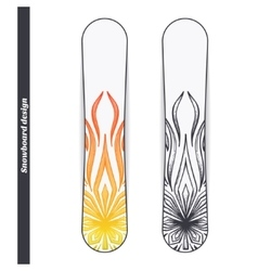 Snowboard design abstract marijuana vector