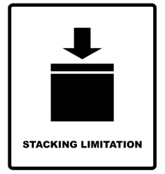 Stacking limitation by mass packaging vector