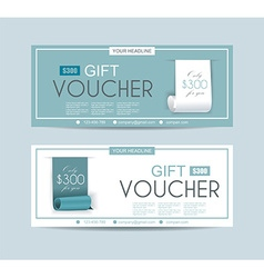 Voucher template with roll paper ribbon vector
