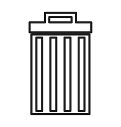 waste delete isolated icon design vector image