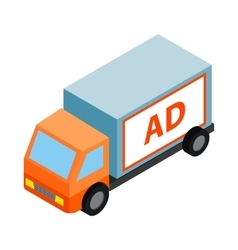 White sign for advertising on a truck icon vector