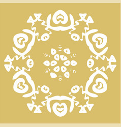 Winter card snowflake pattern vector
