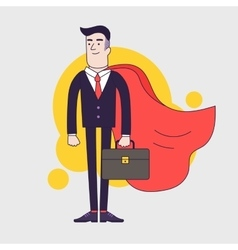 Young serious businessman superhero with leather vector image vector image