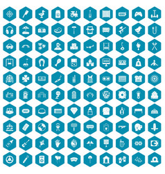 100 entertainment icons sapphirine violet vector image vector image