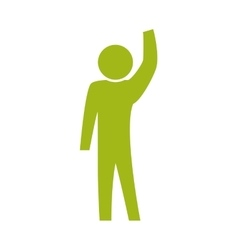 arm gesture pictogram action male man silhouette vector image
