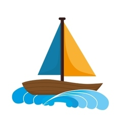 Sailboat nautical ship vector