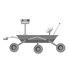 Mars exploration rover icon gray monochrome style vector