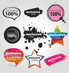 Icons exclusive vector