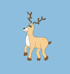 baby deer cartoon vector image