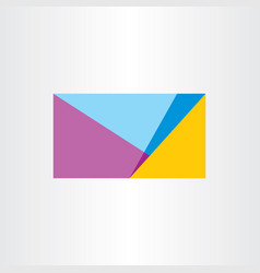 Abstract geometric business card background design vector