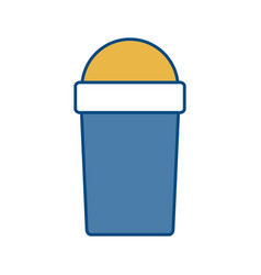 Smoothie cup icon vector
