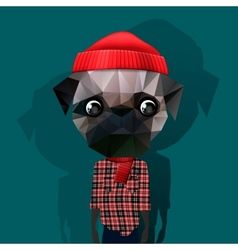 Cute fashion hipster animal vector