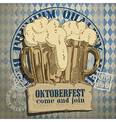 beer background Oktoberfest vector image
