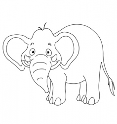 Outlined elephant vector