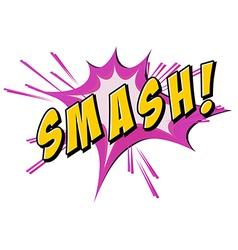 Smash flash on white vector image