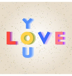 Colorful love alphabet vector