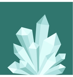 Light crystal druse composition on green backgroun vector