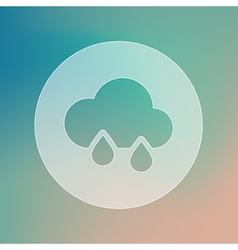 Rain cloud transparent icon meteorology weather vector