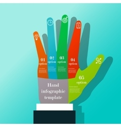 Hand infographic template vector
