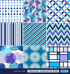 Abstract background with blue geometric shapes vector