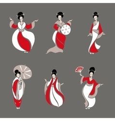 Beautiful Chinese Women vector image vector image