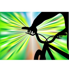 bicycle ride vector image vector image