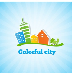 Bright picture of the city vector image