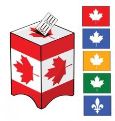 Canada election vector image vector image