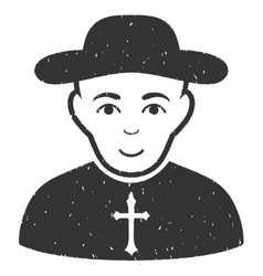 Christian Priest Grainy Texture Icon vector image vector image