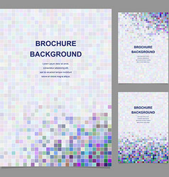 Colored abstract square tile mosaic brochure vector