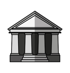 Courthouse building isolated icon vector